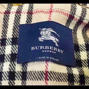 Vtg Black Burberry Trench Coat